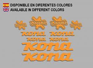 Ecoshirt SY-LSMC-NID3 Stickers Kona Bike F131 Stickers Aufkleber Decals Autocollants Desivi, Orange