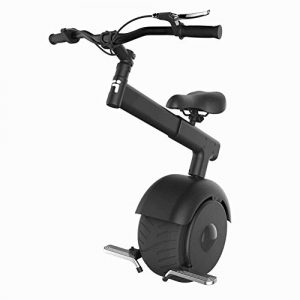 RUIMA Self Balancing Electric Unicycle – One Wheel Electric Scooter, Tension Bar, Folding Foot Rests