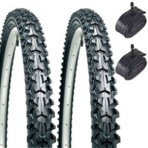 CST Eiger 26″ x 1.95 Mountain Bike Tyres with Schrader Tubes (Pair)