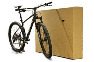 Bicycle Cardboard Box – Double Walled Cardboard Bike Box For Packing, Storing And Shipping – Bicycle Shipping Box With Handles – Hybrid Bike, Road Bike And Mountain Bike Box – 147 x 22 x 90 cm