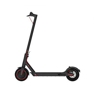 JIAWE Folding electric scooter, mini lithium battery scooter, top speed 25 (km/h), two wheels of 8.5-inch pneumatic tires, 300W motor power, aluminum alloy material