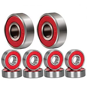 Qpower 20 Pcs Skateboard Bearing, 608 ABEC-9 High Speed Wearproof Skating Steel Wheel Roller, Precision Inline Skate Bearings for Longboard, Kick Scooter, Roller Skates