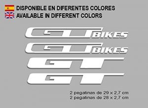 Ecoshirt J0-PAD3-N1TB Stickers GT Bikes F121 Vinyl Adesivi Decal Aufkleber Кλосс MTB Stickers Bike, Yellow