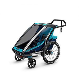 Zavddy-sp Children Bike Trailer 360 Swivel 2-In-1 Double Child Two-Wheel Bicycle Cargo Trailer And Jogger Kids Jogger Stroller