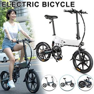 Electric Folding Bike, Folding Electric Bicycle, 250W 7.8Ah Folding Electric Bicycle Foldable Electric Bike,Folding Electric Bike Bicycle Aluminum Alloy 16 Inch Portable 25KM/H, 3 Mode