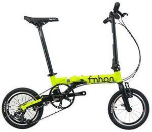 WJSW Aluminum Folding Bike 16″ Mini velo Bike V Brake Foldable 3 Speed Urban Commuter Bicycle