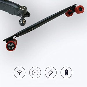 38″ Electric Skateboard,8 Layers Maple Longboard 600W Dual Motor, 25 MPH Top Speed, 18.6 Miles Range with Wireless Remote Control, For sports birthday gift