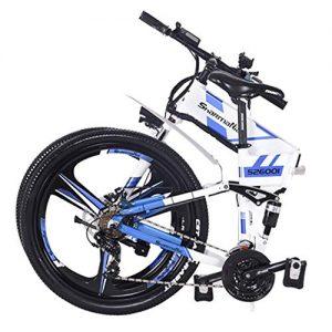 Hokaime Mountain Electric Bicycle, Foldable Body Electric Bicycle, Foldable Frame, 48V 350W Rear Engine Electric Bicycle