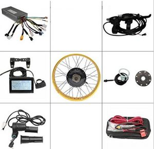 Free Shipping Ebike Kit Electric Bicycle 36V/48V 750W Fat Wheel Rear 4Colors Option Rim Convert Kit With LCD3 Display+Throttle+Controller+PAS (26inch)