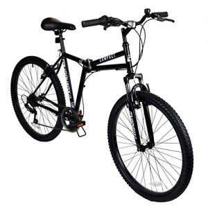 26″ Compact Mountain Folding BIKE – Suspension Collapsible Muddyfox in BLACK New