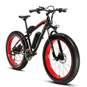 Cyrusher® Extrbici XF660 48V*500W Mans Electric Bike Mountain Bike Powerful motor 7 Speeds Electric Bicycle Hydraulic Disc Brakes (red)