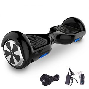 Cool&Fun Two Wheel Self Balance Scooter LED Hoverboard Safety Battery with Free Bag from Shop GyroGeek (Black)