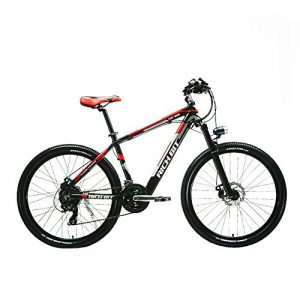 Rich Bit® New Updated RT-800 Electric Bike Mountain Bike Bicycle Cycling Integrated Li-on Battery Suspension Quality Alluminum Alloy Frame Shimano 7Speeds 7 Gears Red