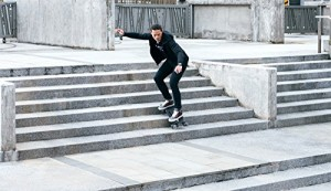 Skate down stairs? No problem with this urban terrain longboard.